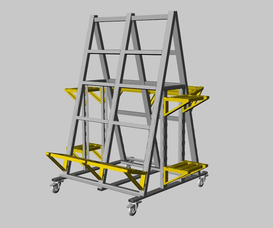 STES_A01 – Stelaż monterski do szaf sterowniczych